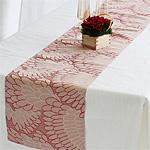 ジャガードテーブルランナー カグラ  レッド