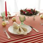 クリスマスコーディネートにぴったりのテーブルクロスです!
