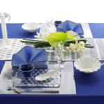 テーブルから涼しさをお届けます〜涼しいカラーのコーディネート〜