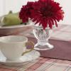 チェックのテーブルクロスで楽しむ秋のティータイム