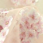 桜色のオーガンジー、出来上がりました