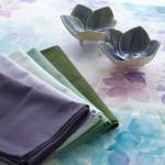 雨にぬれても♪〜紫陽花のテーブルランナー